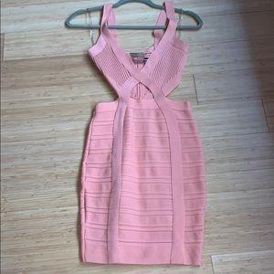 Pink bandage dress!